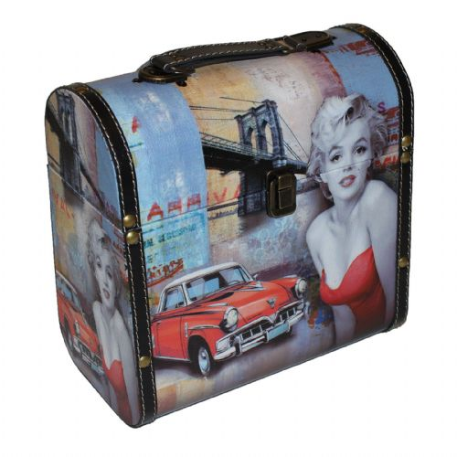 Marilyn Monroe Storage Cases Set Of 2 - Iconic Hollywood Memorabilia - Decorative Marilyn Monroe Gifts and Home Accessories